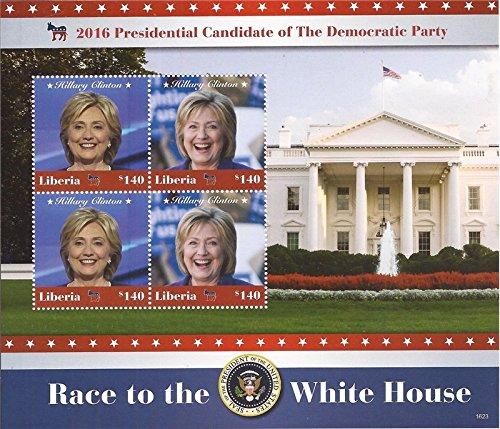 Liberia Sheet (Liberia - 2016 Hillary Clinton - 4 Stamp Sheet - 12A-078)