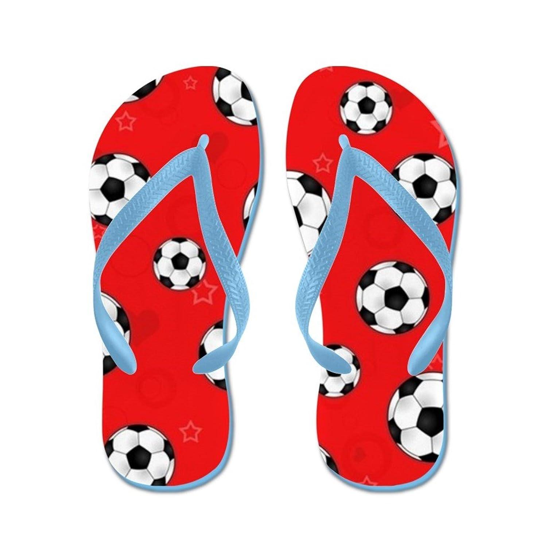 Lplpol Pink Soccer Ball Flip Flops for Kids Adult Beach Sandals Pool Shoes Party Slippers Black Pink Blue Belt for Chosen