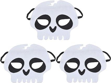 Fansport Halloween Mask Decorative Pumpkin Pirate Skeleton Head Felt Cosplay Mask Masquerade Mask for Kids