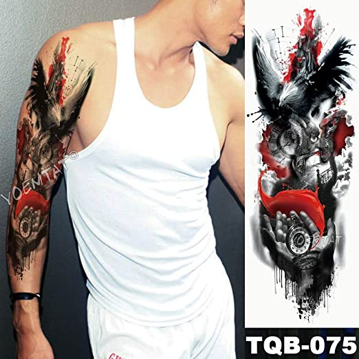 tzxdbh Gran Brazo Manga Tatuaje maorí Totem Poder Impermeable ...