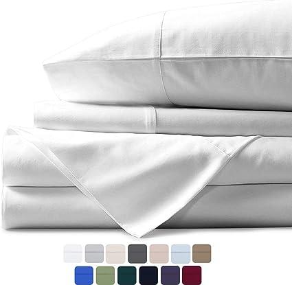 Mayfair - Juego de sábanas de Lino de 600 Hilos, 100% algodón Egipcio, Tejido de satén: Amazon.es: Hogar