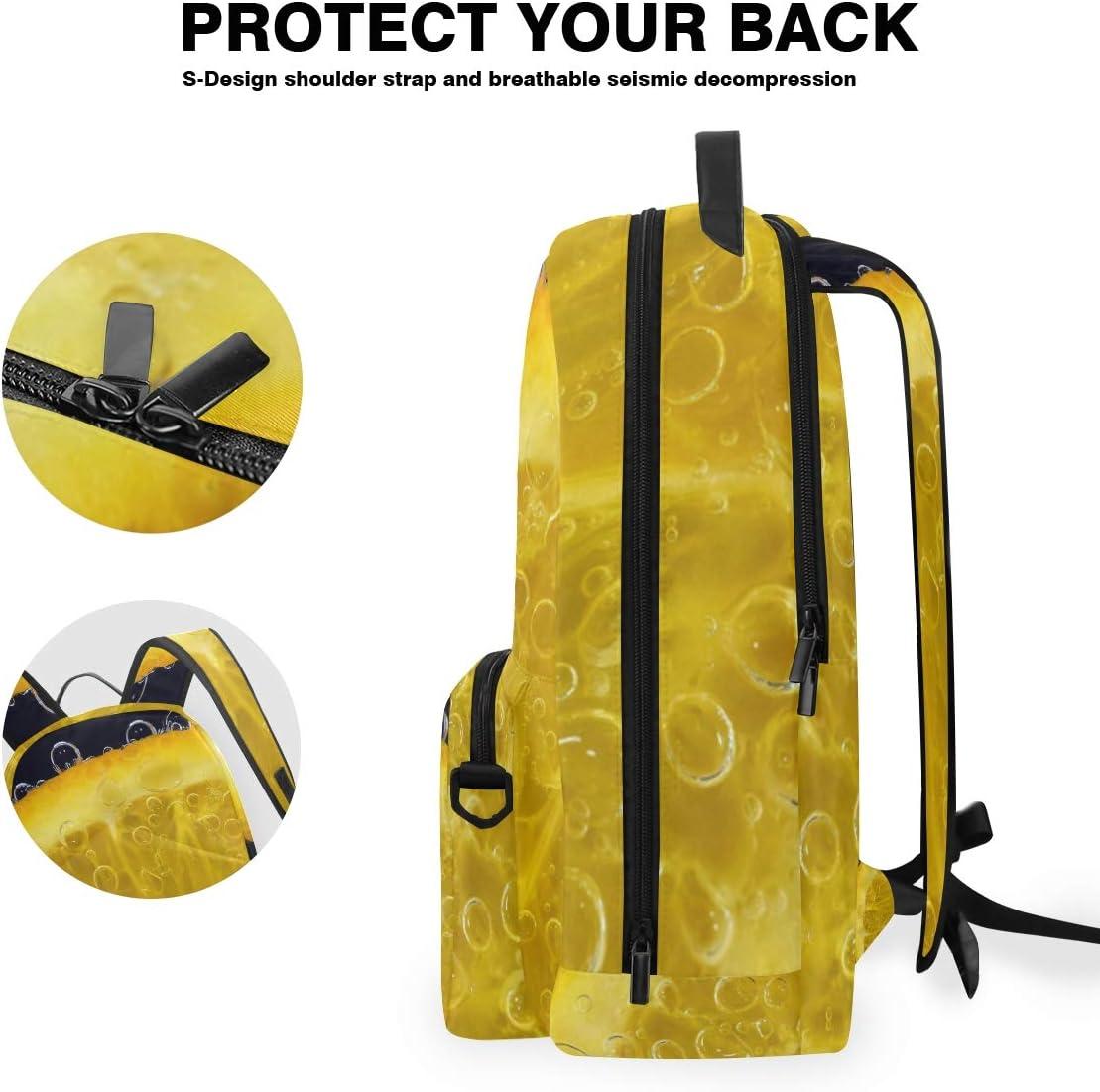 FAJRO Fresh Orange Slice Travel Backpack and Cross Bag