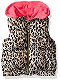 Pink Platinum Big Girls' Cheetah Vest, Cream, 7/8