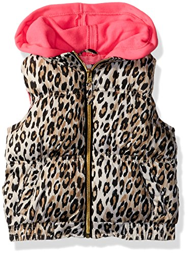Pink Platinum Big Girls' Cheetah Vest, Cream, 7/8