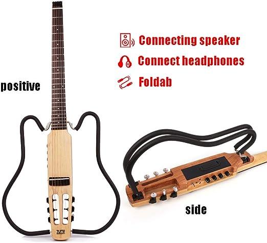 MSHK Portátil Plegable Silencio Guitarra Acústica Sin Cabeza De ...