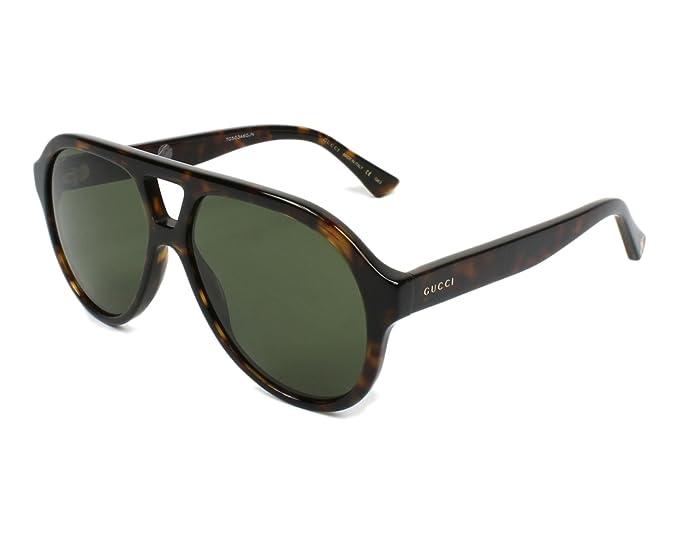 Gucci GG0159S 002 Gafas de Sol, Marrón (2/Green), 56 Unisex ...