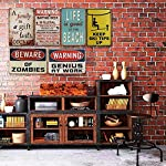 Jesiceny New Tin Sign Akbash Dog Home Protected Good Lord Sign Aluminum Metal Sign for Wall Decor 8x12 INCH 11