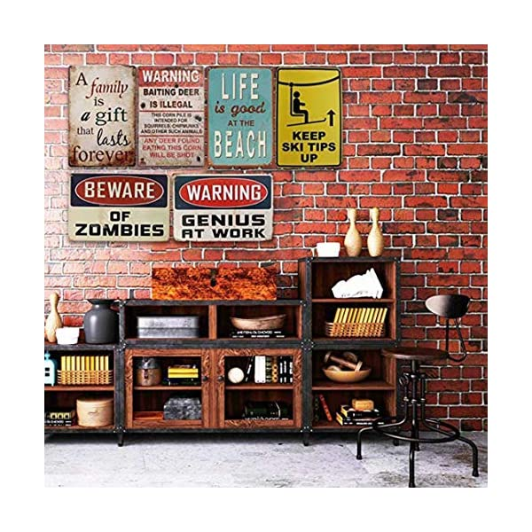 Jesiceny New Tin Sign Akbash Dog Home Protected Good Lord Sign Aluminum Metal Sign for Wall Decor 8x12 INCH 5