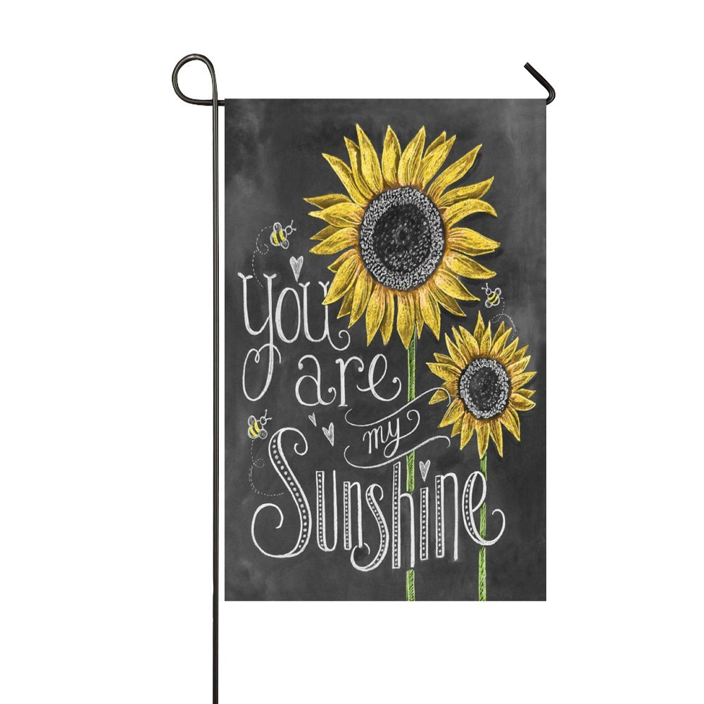 Rossne G sun You Are My Sunshine Sunflower Garden Flag House Flag Decoration Double Sided Flag 28 x 40 Inch