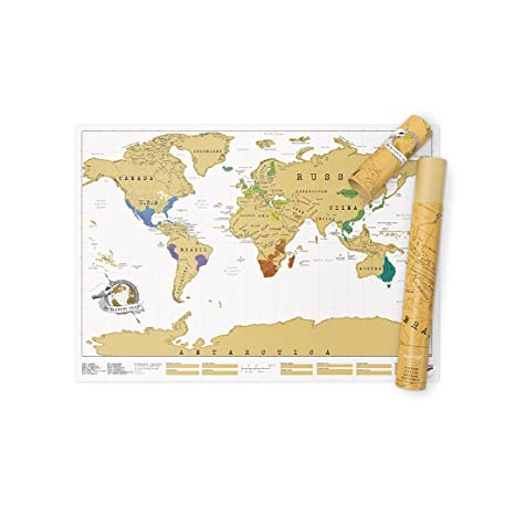 Amazon scratch map original scratch off map personalized world scratch map original scratch off map personalized world travel map poster with countries states gumiabroncs Choice Image