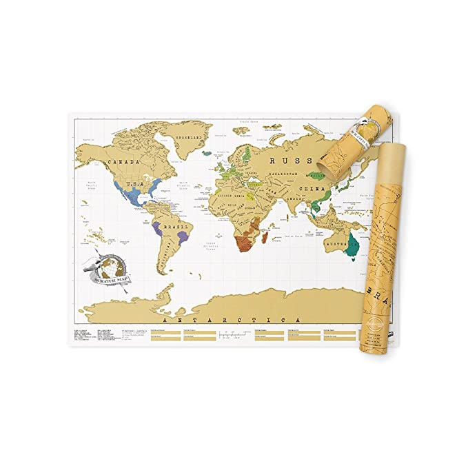 Luckies of london scratch map original personalised world map poster luckies of london scratch map original personalised world map poster travel gift luckies of london ltd amazon kitchen home gumiabroncs Image collections