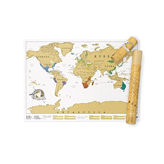 Scratch map original personalised world map poster travel gift scratch map original personalised world map poster travel gift luckies of london gumiabroncs Gallery
