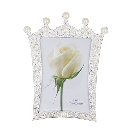 Amazon Zhenzan Frames Romantic White Pearl And Crystal Metal