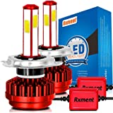 Rxment H4 LED ヘッドライト バイク(HB2 / 9003)車検対応 8000LM(4000LMx2) 6000K 一体型 DC9V-32V COB (2枚セット)