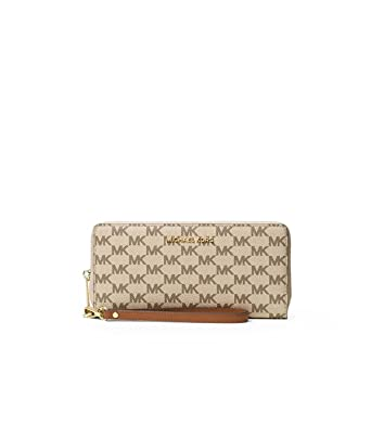 0d83b8762357 Michael Kors Jet Set Travel Continental Zip Around Wallet (Natural    Luggage) at Amazon Women s Clothing store