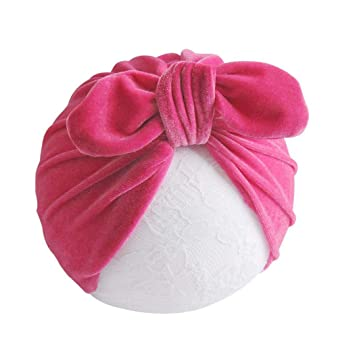 0ee59db95f2 Solid Big Knot Bow Velvet Headband For Girls Winter Kids Soft Turban Velvet  Head Wrap Girls