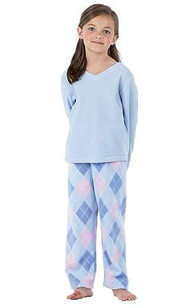 85d3e82452 Amazon.com  PajamaGram Big Girls Pajamas Cozy - Snuggle Fleece ...