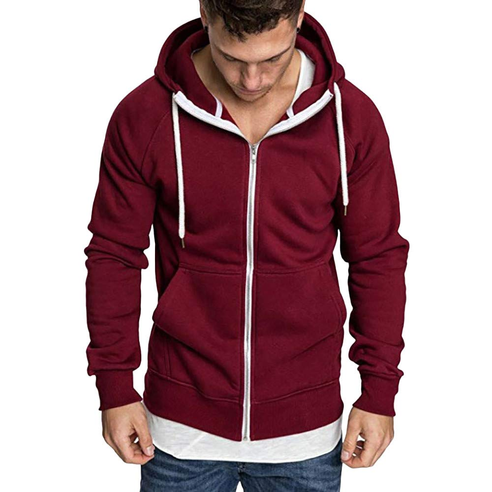 Binmer Mens Long Sleeve Autumn Winter Casual Sweatshirt Hoodies Top Blouse Tracksuits at Amazon Mens Clothing store: