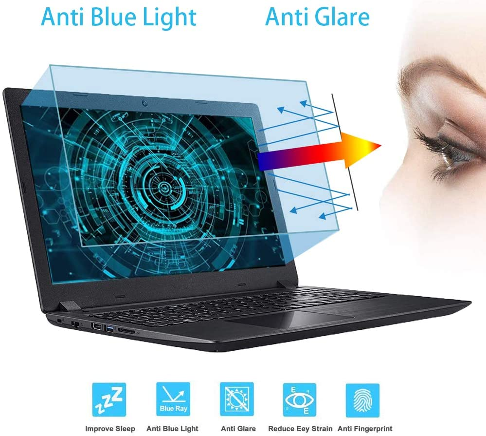 "VIUAUAX 17.3""Anti Blue Light Laptop Screen Protector, 17.3 inch laptop screen protector,Anti Blue Light & Glare Filter, Eye Protection Blue Light Blocking Anti Glare Screen Protector (382x215mm) (!!!Not Include The Screen Bezel)"