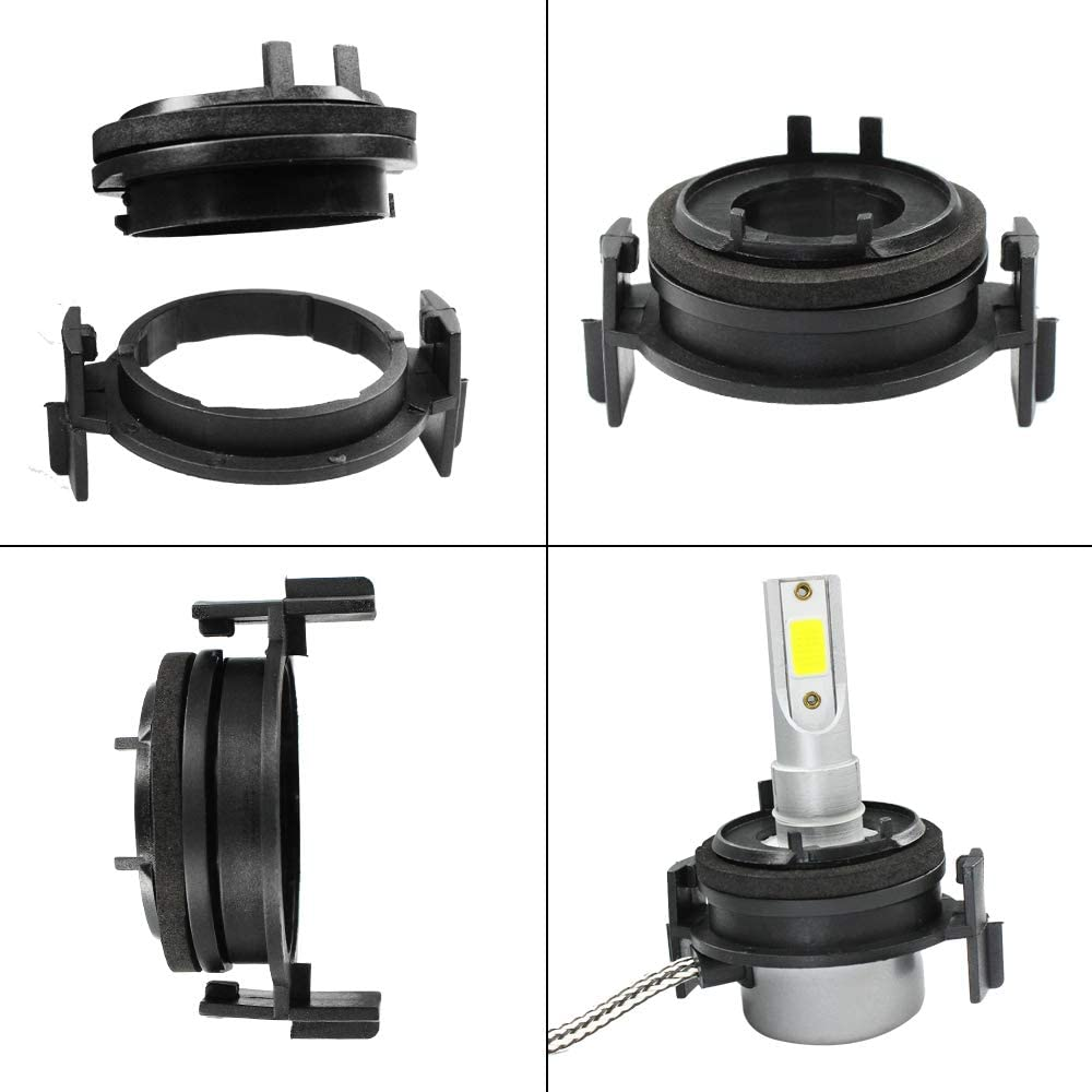 HUIQIAODS H7 Headlight LED Adapter Socket Base Holder Retainer for E46 3 Series
