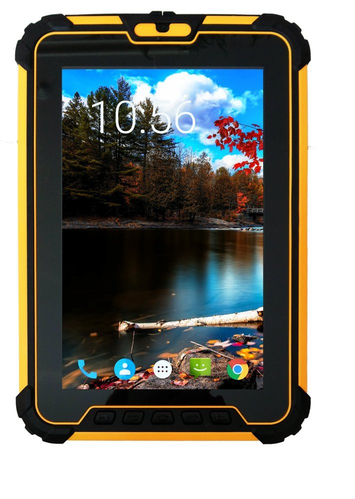 Android 7.1 Rugged Tablet PC, 8-Inch/with Zebra EM1350 1D Laser Bar Code Scanner/Qualcomm 8-core CPU/GPS / IP67 Fully Waterproof for Enterprise Mobile Work