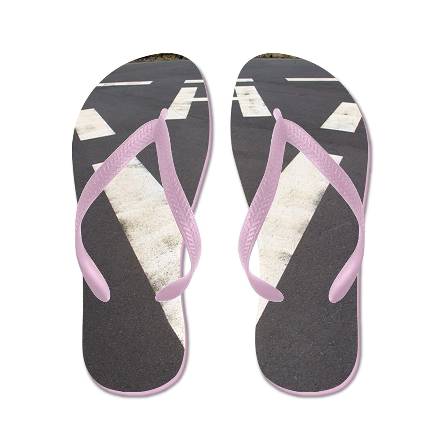60f291a96c53 CafePress Heliport Triangle White Soil Painted SI - Flip Flops ...
