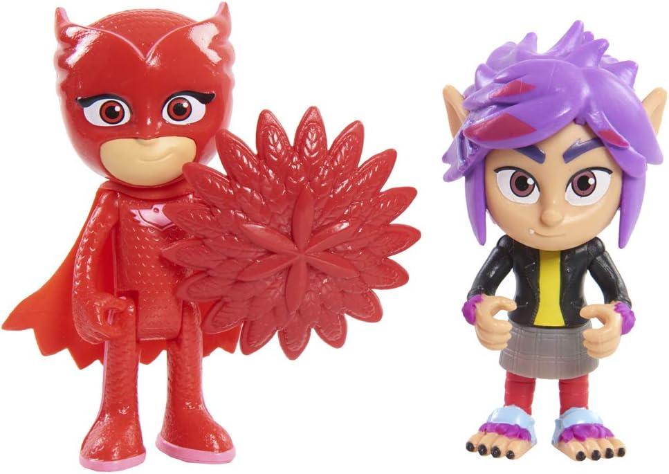 PJ Masks - Pack de 2 Figuras con Luz (BUHITA Y WOLFIE RIP)