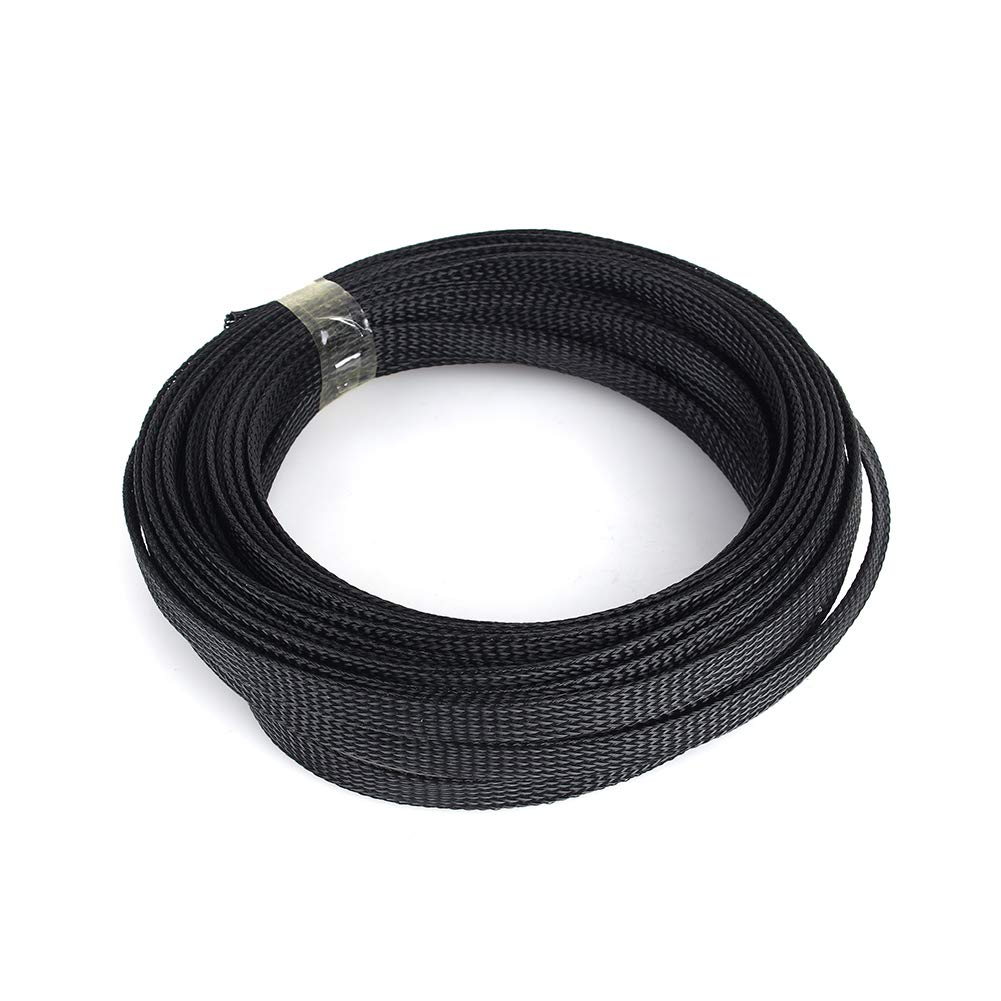 16ft 6mm PET Expandable Braided Sleeving Wire Cable Kabelh/ülse Drahtschlauch Drahth/ülsen Management Schwarz