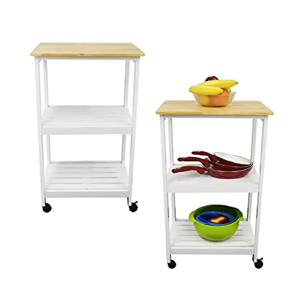Ordinaire Houseables Microwave Cart, Kitchen Stands And Carts, White U0026 Natural,  21u0026quot; (