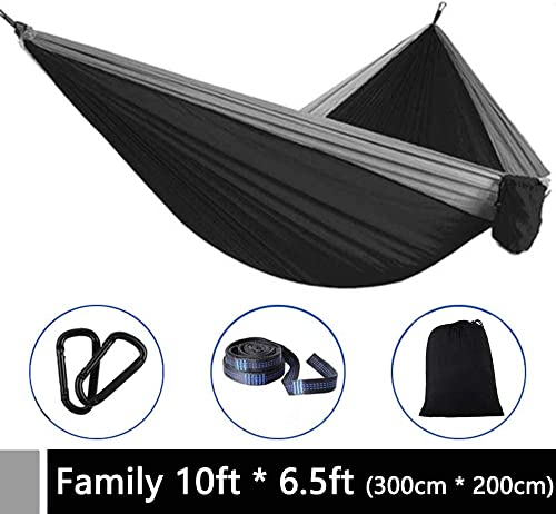 Speedy Panther Hammock Camping Double Single with Tree Straps – Lightweight Nylon Portable Hammock Indoor Outdoor Backpacking Survival Travel Beach Yard