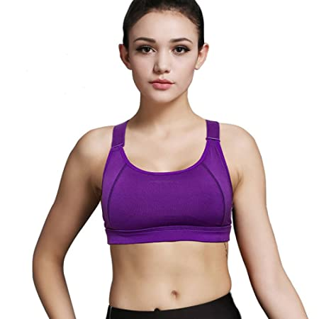 683a8a6ae0 CTao Sports Bra Padded Running Yoga Bra Workout Bras For Gym Yoga Running  New Shockproof High