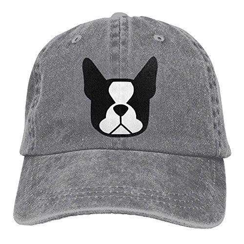 Gorgeously Boston Terrier Denim Baseball Caps Hat Adjustable Cotton Sport Strap Cap For Men Women