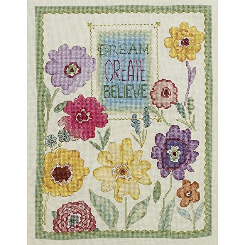 Bucilla Counted Cross Stitch Kit, 10 by 13-Inch, 45953 Dream