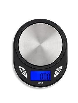 ADE Báscula digital de bolsillo TE1700 Fred - Báscula portátil y profesional con precisión 0,01 g y hasta 10 kg. Display LCD, plata y negro: Amazon.es: ...