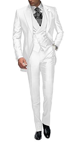 Suit Me Tailored Hombre 3 Piezas Traje para Boda Fiesta Smoking Traje  Chaqueta e2dbb8212c9