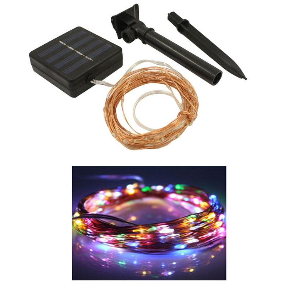 DMMSS Led Solar Lights Induction String Lights String Copper Wire Outdoor Waterproof Christmas Day Wedding Night Decorative Lights 10M