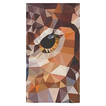 ADEDIY moda personalizados arte moderno geométrico de ojo de búho toalla toalla de baño 30 x