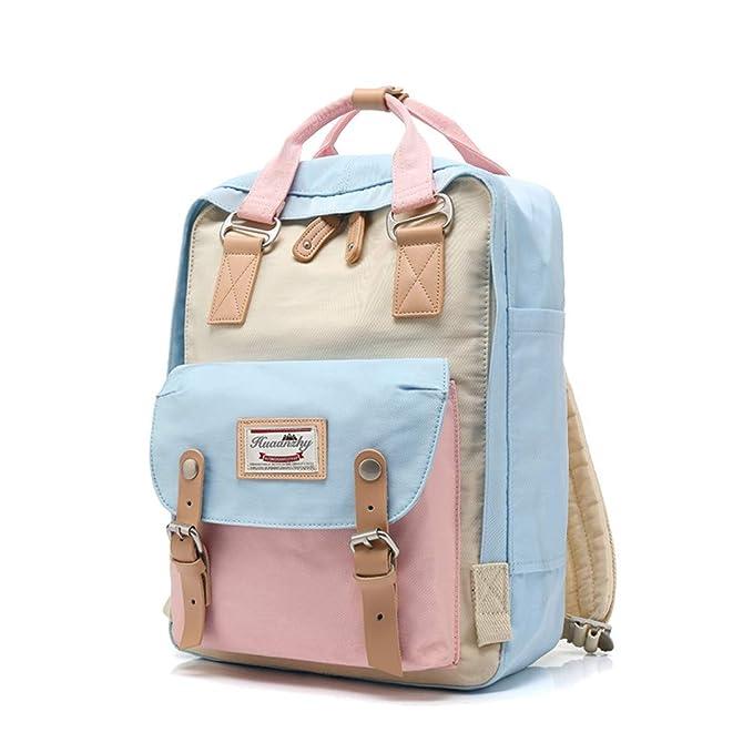 Amazon.com: College Waterproof Backpack For Teenage Girls Ladies School Backpacks Top H le Laptop Travel Bag Unisex: Clothing