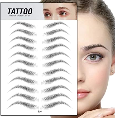 LLDH 2 Pack 4D Hair-Like Authentic Eyebrows Grooming Shaping Brow Shaper Eyebrow Makeup Transfers Sticker (E16): Amazon.es: Hogar