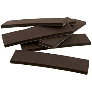 SoftTouch 4219495N Felt Pads for Hard Surfaces Protect Hardwood Floors from Scratches and Slide Furniture Easily, 1 x 4 Inch, Brown