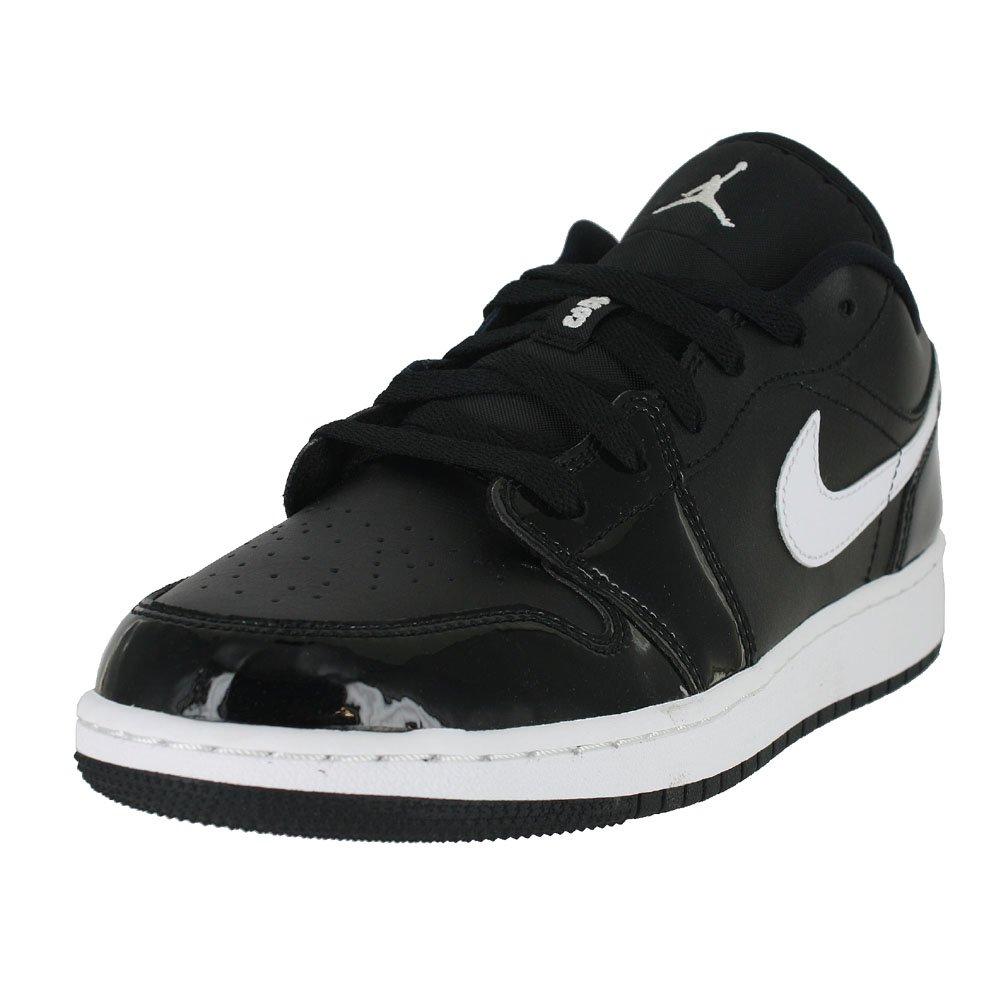 Jordan Nike Kids Air 1 Low BG Black/White/WHT Basketball Shoe 6.5 Kids US