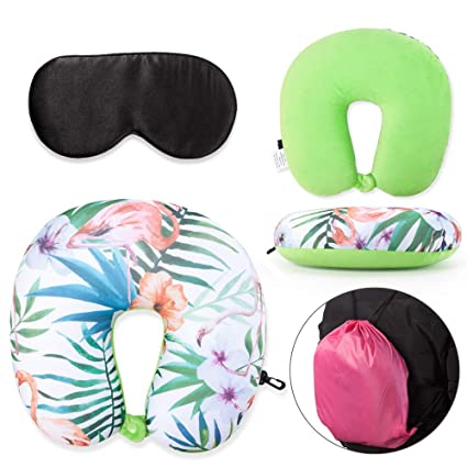 Sleeping Rest Cushion With Hat Travel Inflatable U Shape Neck Support Pillow Apparel Accessories