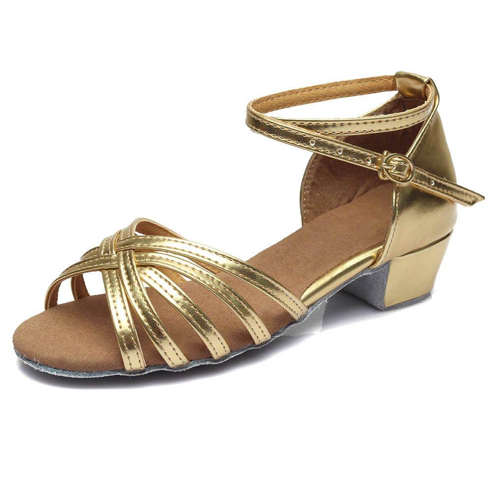 SWDZM Niñas Estándar de Zapatos de baile latino Satén Ballroom modelo-ES-202 D202