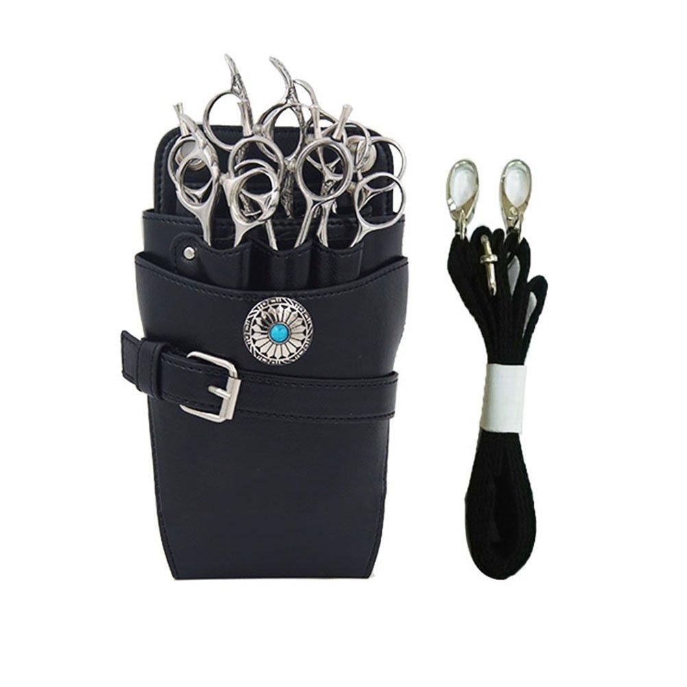 FRCOLOR Salon Barber Shears Holster Scissors Waist Holder Organizer Pouch Hair Dressres Pouch(Black)