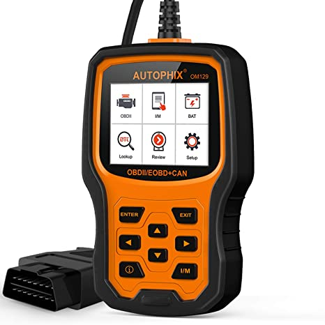 AUTOPHIX Gold one size OM129 OBD2 Scanner Auto Code Reader Car Diagnostic  Scan Tool with Graphing Battery Test