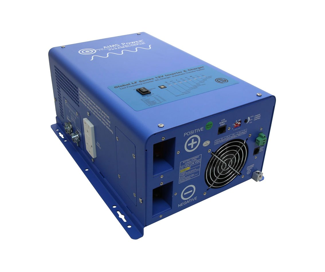 AIMS Power 3000 Watt 12V Pure Sine Inverter Charger w/ 9000W Surge - ETL Certified
