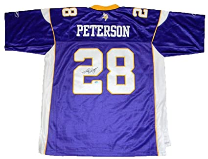 huge discount 6d100 1cd6e Adrian Peterson Signed Jersey - #28 Reebok Premier ...