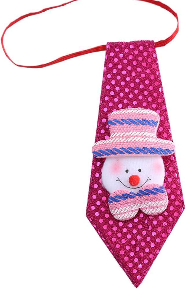 Exing Corbata de Navidad con Lentejuelas para niños Corbata de ...