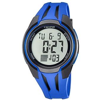 Calypso de hombre reloj de pulsera Sport Digital PU reloj de pulsera Azul de cuarzo esfera azul uk5703/3: Calypso: Amazon.es: Relojes
