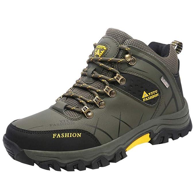 Zapatillas de Hombre de BaZhaHei, Calzado Deportivo para Caminar Fuera de Carretera Plano al Aire